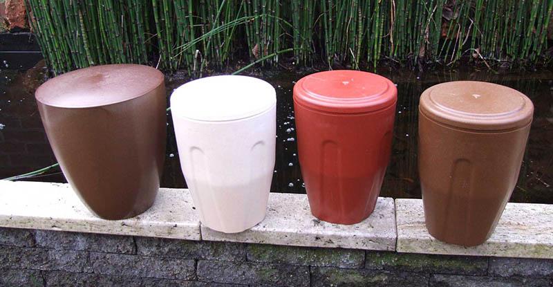 urnen voor as na crematie